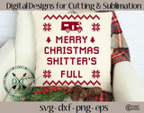 Shitter's Full Christmas Vacation Sweater SVG