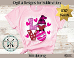 Hand Drawn Valentine's Day Gnome Sublimation Design