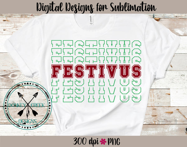 Festivus Stacked Letters PNG
