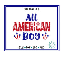 All American Boy 4th of July SVG