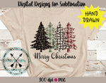 Leopard & Plaid Christmas Trees sublimation PNG