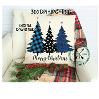 Police Christmas Trees  sublimation PNG