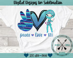 Peace Love RN Sublimation Design