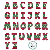 Christmas Sweater Alphabet Sublimation PNG