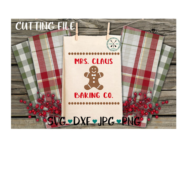 Mrs Claus Baking Co SVG