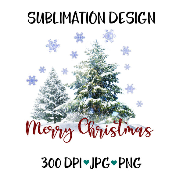 Winter Scene Sublimation PNG