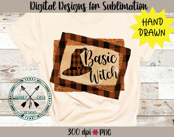 Basic Witch Hand Drawn Halloween Sublimation Design