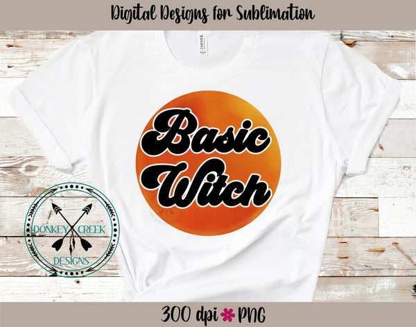 Basic Witch Moon Halloween Sublimation Design