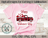 Copy of Plaid Valentine's Day Truck SVG