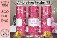 20 oz Skinny Tumbler Design - PNG Bundle