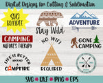 Camping svg Bundle
