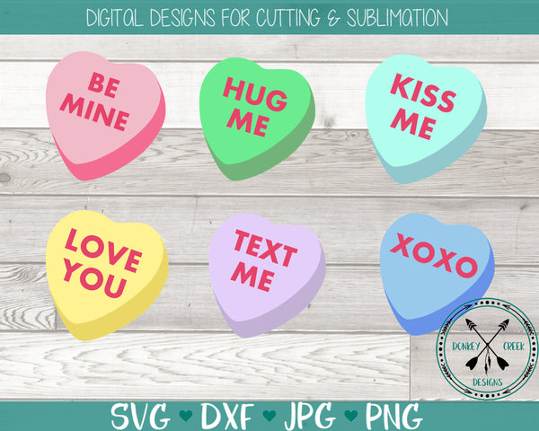 Conversation Hearts Valentine Candy SVG