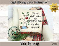 Christmas Tree Quote sublimation PNG