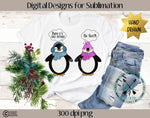 Baby It's Cold Out Penguins Sublimation Design