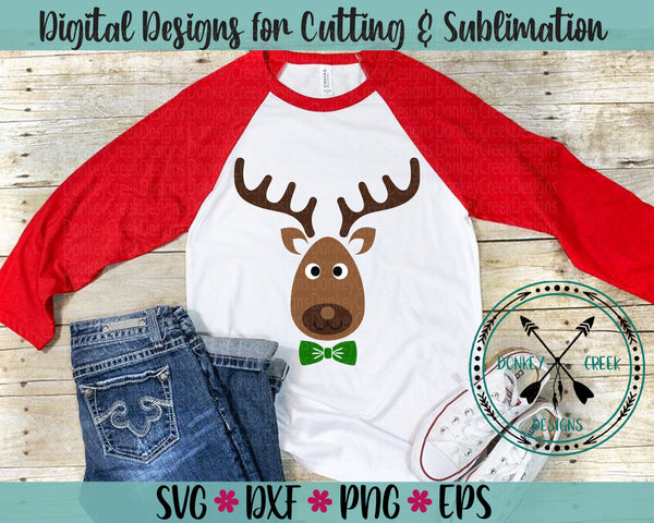 Cute Reindeer SVG Christmas cutting file