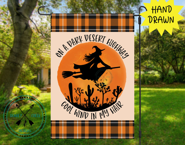 Halloween Garden Flag Design Template