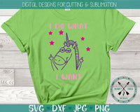 I do what I want Unicorn SVG