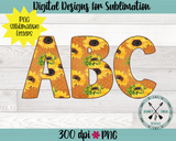 Sunflower Alphabet Sublimation File