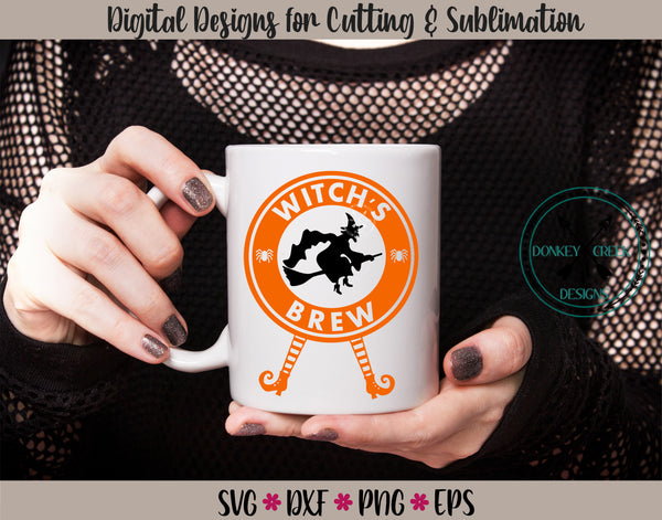 Witch's Brew Coffee Mug Decal SVG Design