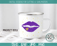 Mardi Gras SVG Distressed Lips