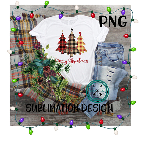 Christmas Tree Trio,  sublimation PNG