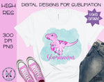 Glamasaurus Hand Drawn Sublimation PNG