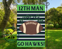 12TH  Man Garden Flag Design Template