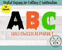 Halloween Alphabet SVG