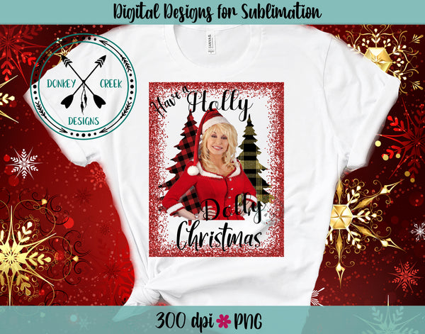Holly Dolly Christmas PNG