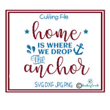 Home is where we drop the anchor svg