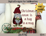 Hand Drawn Christmas Cocoa Gnome Sublimation Design