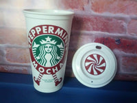 Peppermint mocha  coffee mug decal design