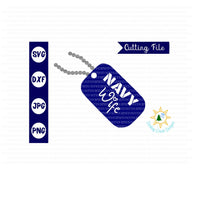 Navy Wife  dog tag svg
