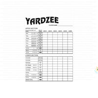 Yardzee SVG dice game  template