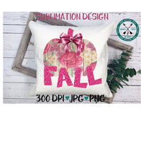 pink floral pumpkin sublimation file
