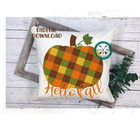 Plaid pumpkin, Fall Sublimation download