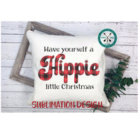 Hippie little Christmas, plaid sublimation design