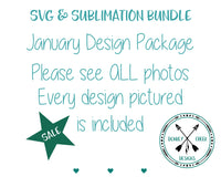January Design Package SVG & Sublimation Bundle