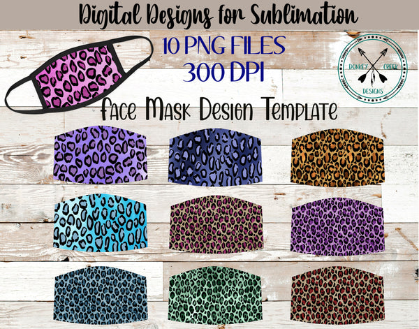 Leopard Print Face mask sublimation design bundle