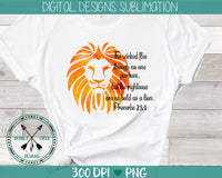 Bold Lion Sublimation Design