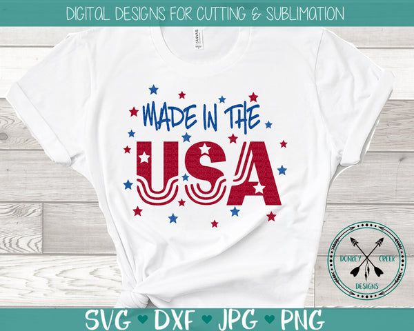 Made in The USA 4th of July SVG