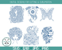 Mandala Zentangle SVG Bundle
