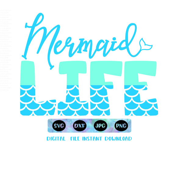 Mermaid SVG cutting file