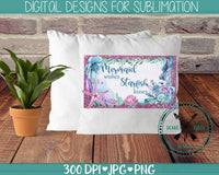 Mermaid Wishes Sublimation Design