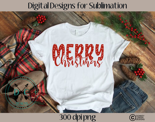 Merry Christmas  Sublimation Design