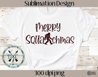 Merry Squatchmas Sublimation Design