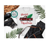 Plaid Christmas Truck sublimation Design