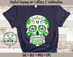 12th Man sugar skull  svg
