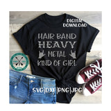 Hair Band Heavy Metal Girl SVG