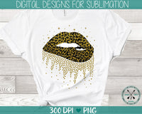 Leopard and glitter print sublimation PNG instant download